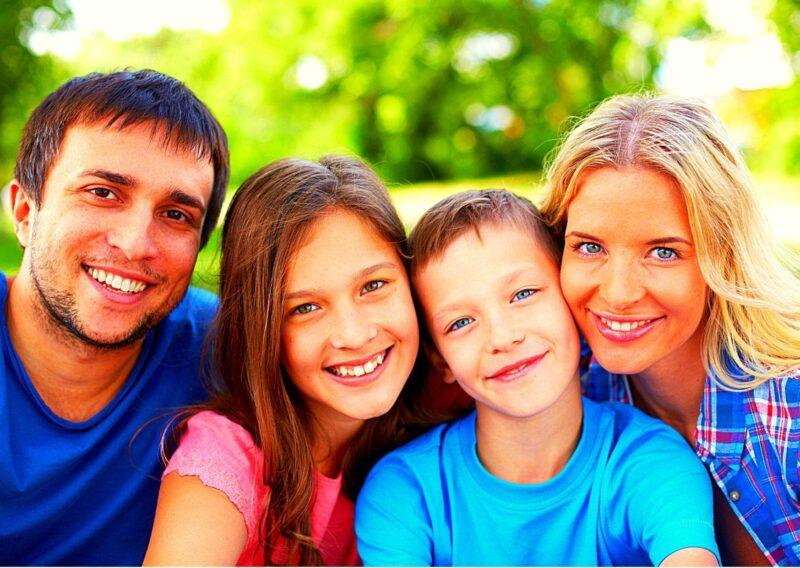 Счастливая семья.