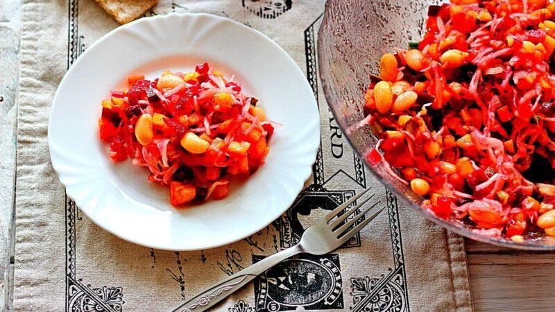 Винегрет с фасолью - рецепт