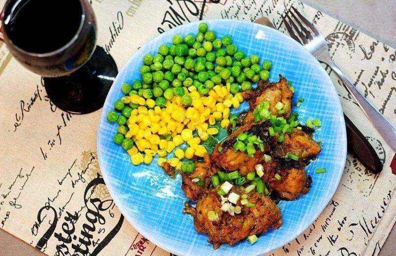 Курица маринованная для жарки на сковороде.